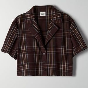 Sunday Best Tuesday Plaid Cropped Button Up
